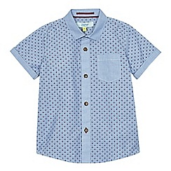 Baker by Ted Baker - Boys' blue geometric print shirt