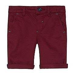 Baker by Ted Baker - Boys' dark red textured herringbone shorts