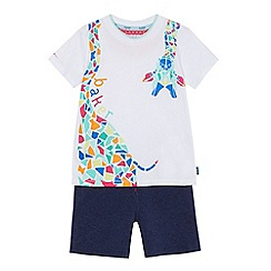 Baker by Ted Baker - Boys' giraffe print t-shirt and shorts set