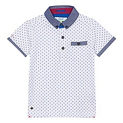 Baker by Ted Baker - Boys' white geometric print polo shirt