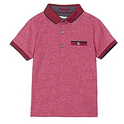 Baker by Ted Baker - Boys' red marl polo shirt