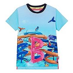 Baker by Ted Baker - Boys light blue flume print t-shirt