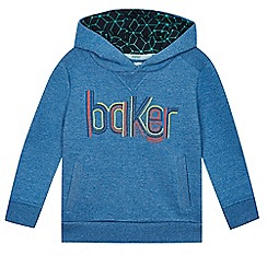Baker by Ted Baker - Boy's blue hooded sweatshirt