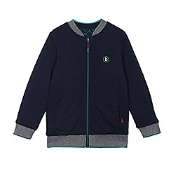 Baker by Ted Baker - Boys' navy textured reversible bomber jacket