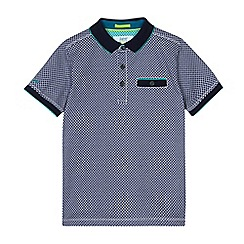 Baker by Ted Baker - Boys' navy geometric print polo shirt