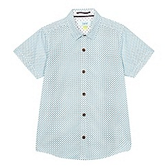 Baker by Ted Baker - Boys' white and blue geometric print shirt