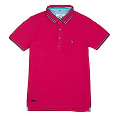 Baker by Ted Baker - Boys' pink pique polo shirt