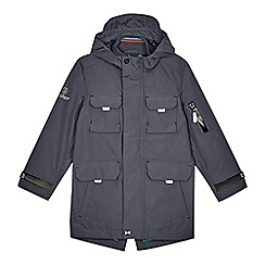 Baker by Ted Baker - Boys' grey shower resistant parka coat