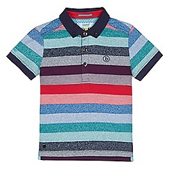 Baker by Ted Baker - Boys' multi-coloured striped polo shirt