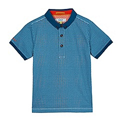 Baker by Ted Baker - Boys' dark green geometric print polo shirt
