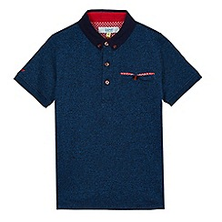 Baker by Ted Baker - Boys' blue marl polo shirt