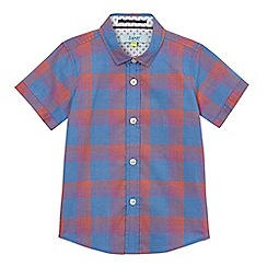 Baker by Ted Baker - Boys' blue checked print shirt