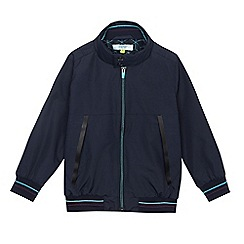 Baker by Ted Baker - Boys' navy shower resistant Harrington jacket