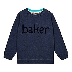 Baker by Ted Baker - Boys' navy flocked logo sweater