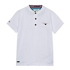 Baker by Ted Baker - Boys' white textured grandad collar top