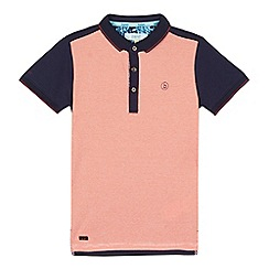 Baker by Ted Baker - Boys' orange stripe polo shirt