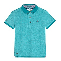 Baker by Ted Baker - Boys' turquoise marl polo top