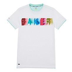 Baker by Ted Baker - Boys' white logo print t-shirt