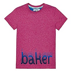 Baker by Ted Baker - Boys' purple logo print t-shirt