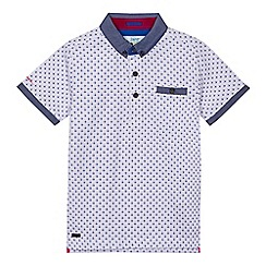 Baker by Ted Baker - Boys' white geo polo shirt