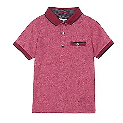 Baker by Ted Baker - Boys' dark red marl polo top
