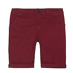 Baker by Ted Baker - Boys' red herringbone chino shorts