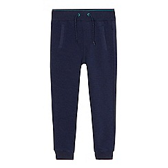 Baker by Ted Baker - Boys' navy ribbed panel jogging bottoms