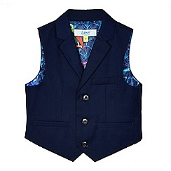 Baker by Ted Baker - Boys' blue parrot print lining waistcoat