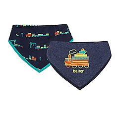 Baker by Ted Baker - Pack of two navy train bibs