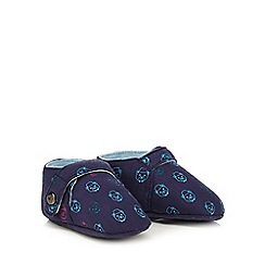 Baker by Ted Baker - Boys' navy teddy bear slippers
