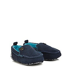 Baker by Ted Baker - Baby boys' navy suede booties