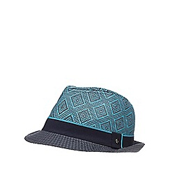 Baker by Ted Baker - Boys' blue geometric print trilby hat