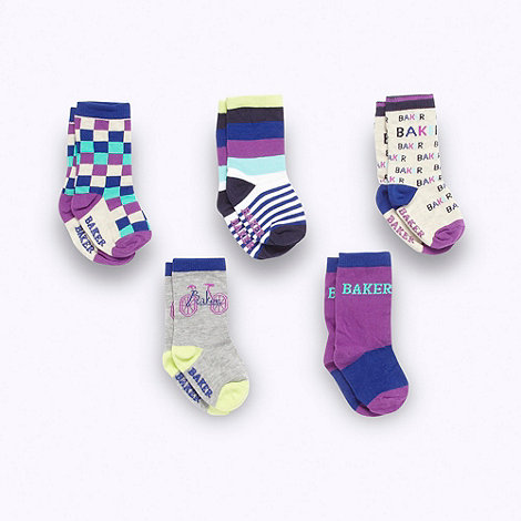 Baker by Ted Baker - Babies pack of five socks