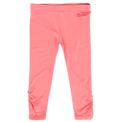Babys Pink Button Detail Leggings
