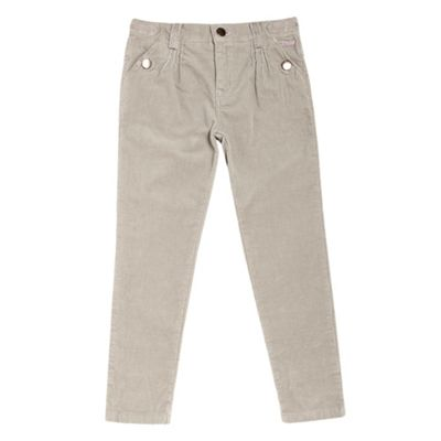 Girls Beige Corduroy Trousers