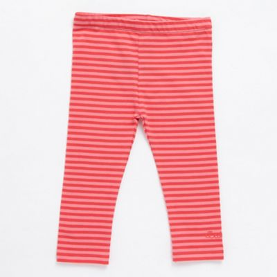 Babys Pink Striped Leggings