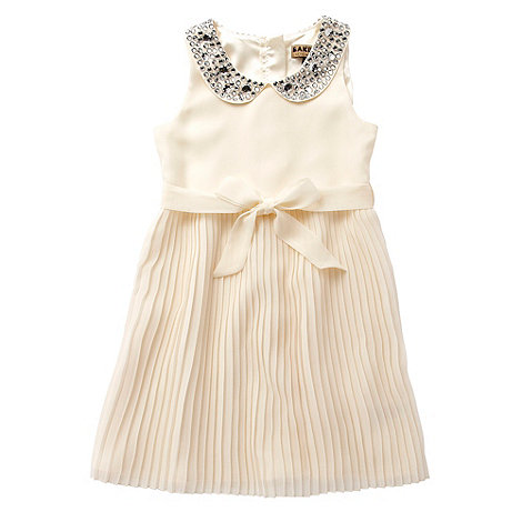Baker by Ted Baker - Girl+s cream diamante collar party dress