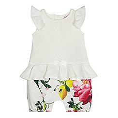 Baker by Ted Baker - Baby girls' white quilted romper suit
