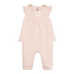 Baker by Ted Baker - Baby girls' pink quilted romper suit