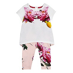 Baker by Ted Baker - Baby girls' multi-coloured top and leggings set