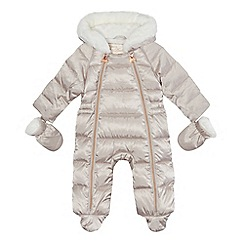 Baker by Ted Baker - Baby girls' light pink shower resistant snowsuit