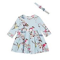 Baker by Ted Baker - Baby girls' light blue dress and headband set