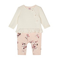 Baker by Ted Baker - Baby girls' off white frill quilted romper