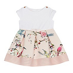 Baker by Ted Baker - Baby girls' pink bird print ottoman dress