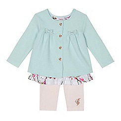 Baker by Ted Baker - Baby girls' light blue quilted jacket and leggings set