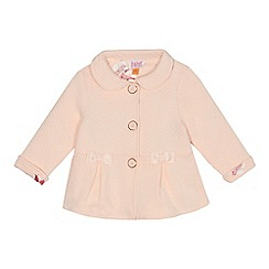 Baker by Ted Baker - Baby girls' light pink quilted collar jacket