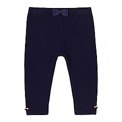 Baker by Ted Baker - Baby girls' navy quilted leggings