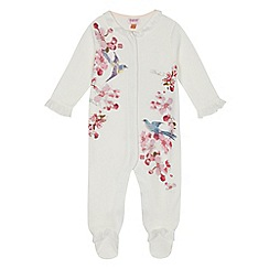 Baker by Ted Baker - Baby girls' white bird print sleepsuit