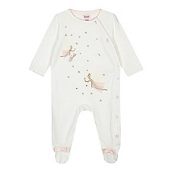Baker by Ted Baker - Baby girls' white fairy embroidered sleepsuit