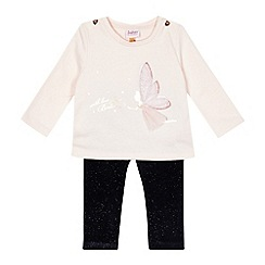 Baker by Ted Baker - Baby girls' light pink fairy applique top and bottoms set
